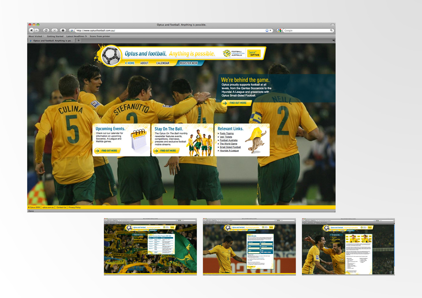 Microsite Socceroos • M&C Saatchi Sydney